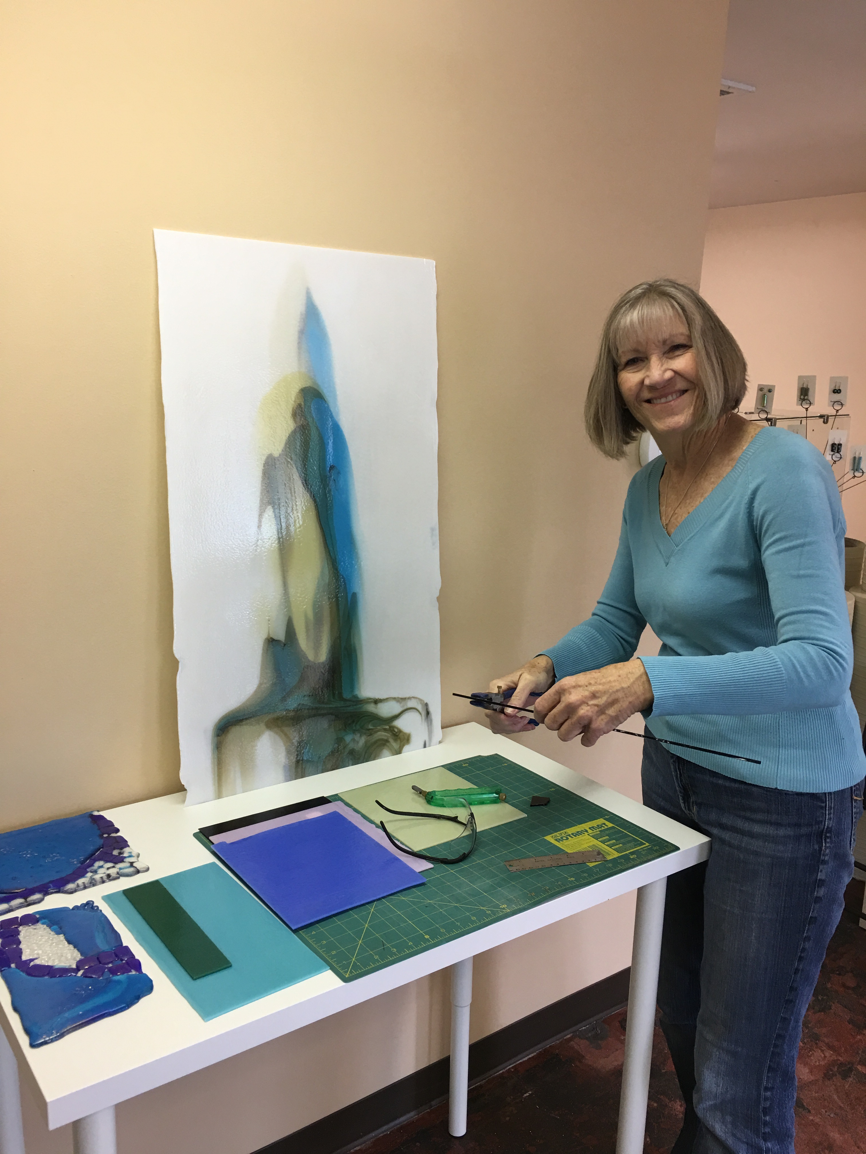 Judy Joustra working